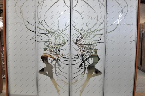 Шкафы-купе с пескоструйным рисунком